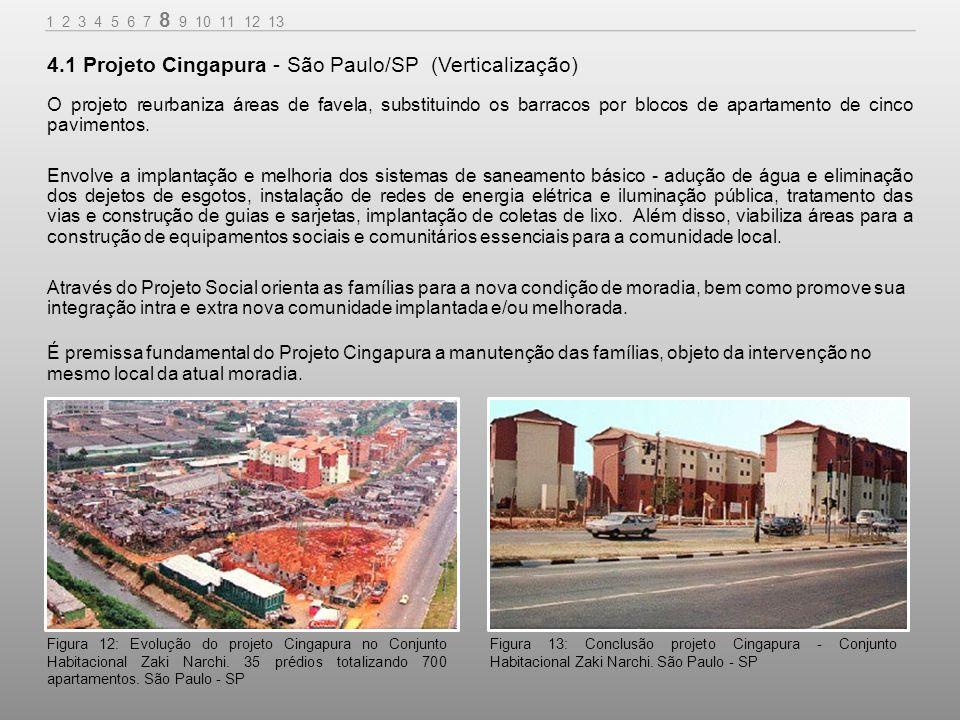 4.1 Projeto Cingapura - São Paulo/SP (Verticalização)