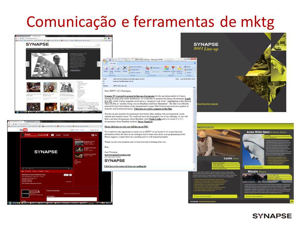 Comunicação e ferramentas de mktg