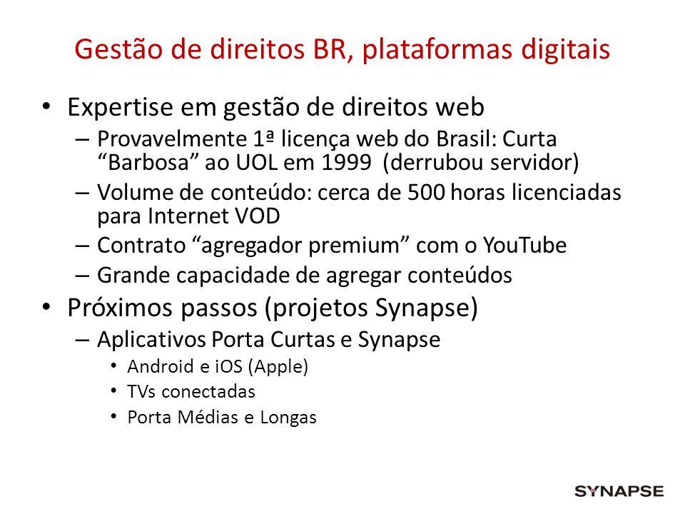 Gestão de direitos BR, plataformas digitais