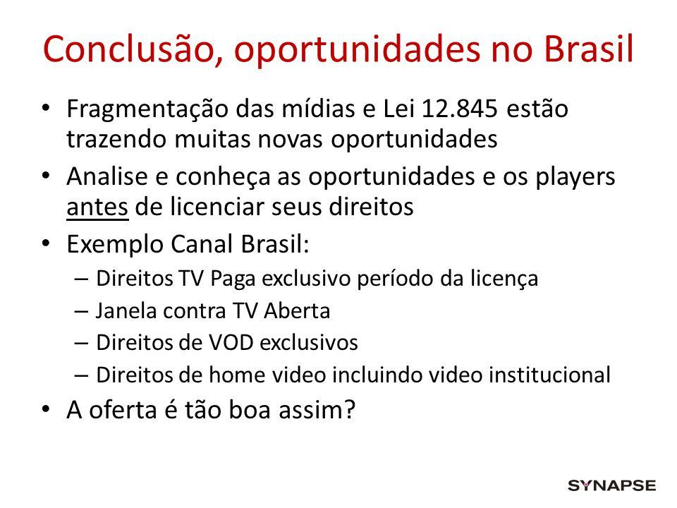 Conclusão, oportunidades no Brasil