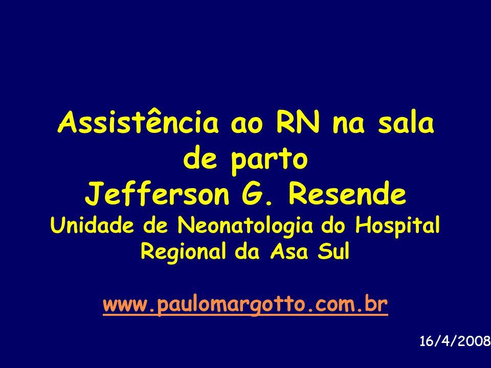 Assistência ao RN na sala de parto Jefferson G