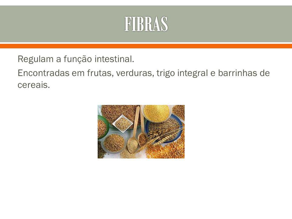 FIBRAS Regulam a função intestinal.