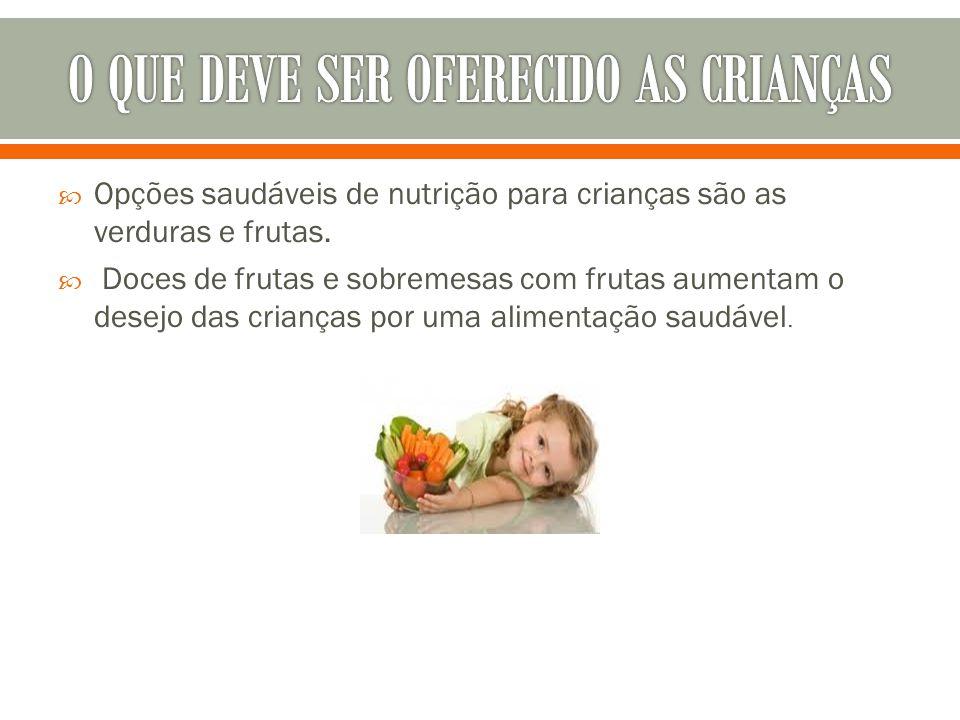 O QUE DEVE SER OFERECIDO AS CRIANÇAS