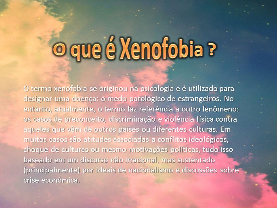 O que é Xenofobia