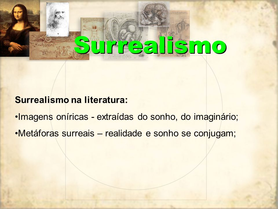 Surrealismo Surrealismo na literatura: