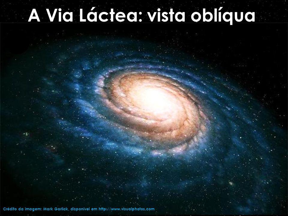 A Via Láctea: vista oblíqua