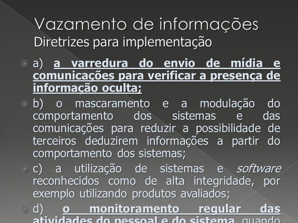 Vazamento de informações Diretrizes para implementação