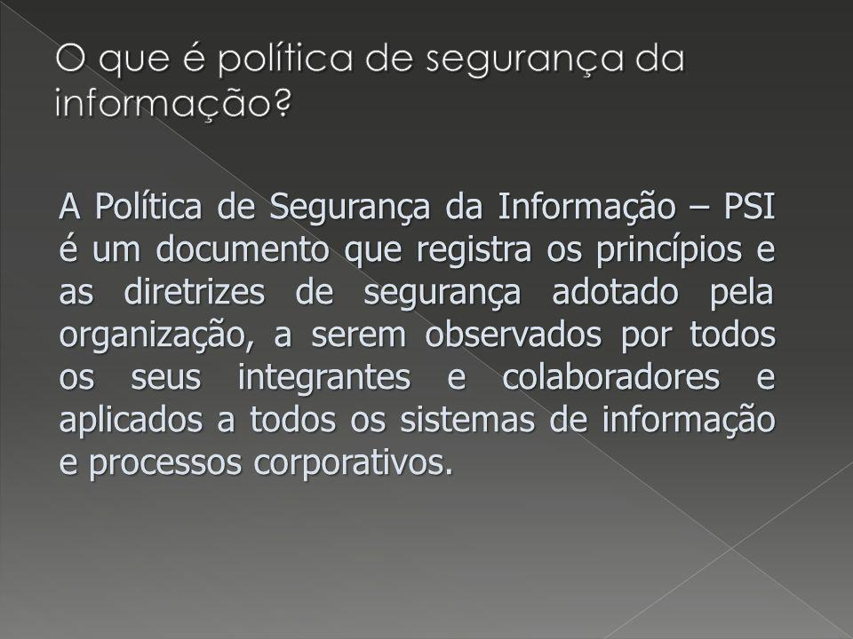 O que é política de segurança da informação