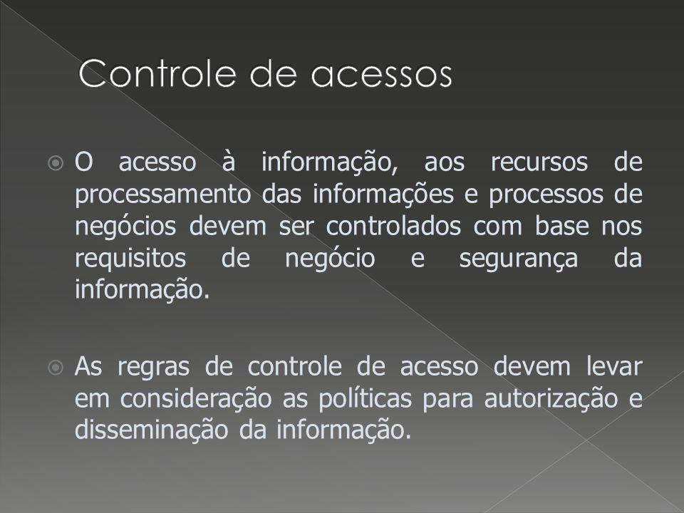 Controle de acessos