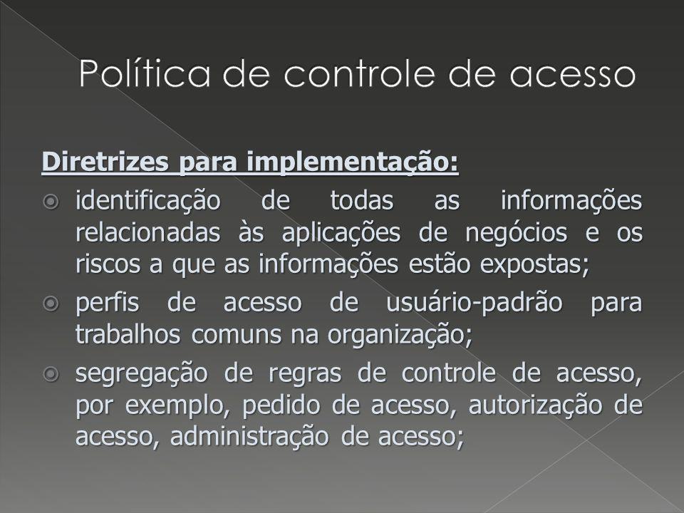 Política de controle de acesso