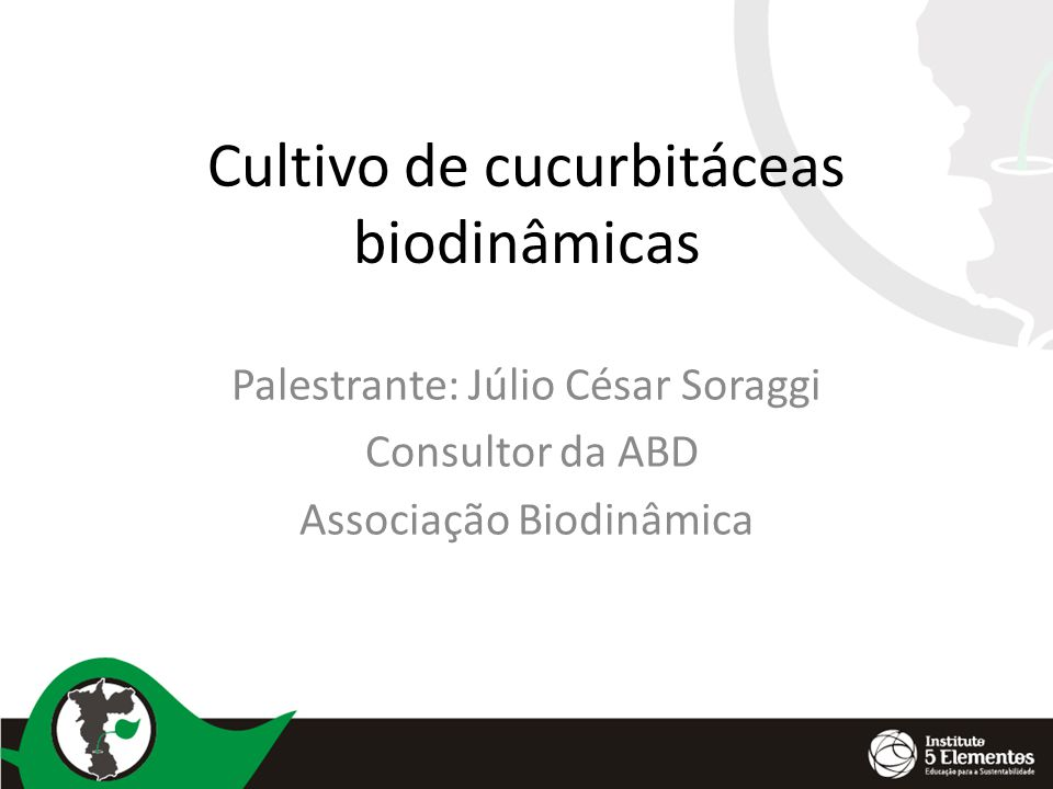 Cultivo de cucurbitáceas biodinâmicas