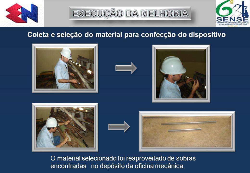 Coleta e seleção do material para confecção do dispositivo