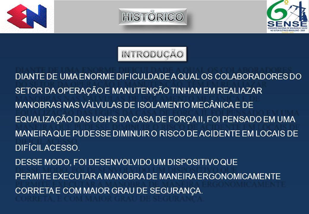 DIANTE DE UMA ENORME DIFICULDADE A QUAL OS COLABORADORES DO SETOR DA OPERAÇÃO E MANUTENÇÃO TINHAM EM REALIAZAR