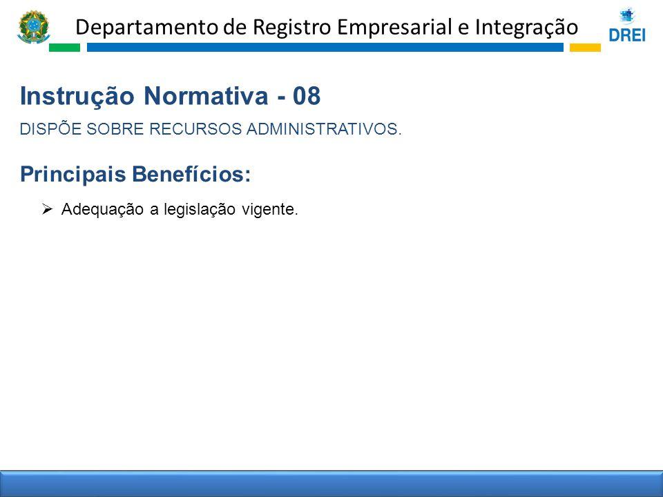 Instrução Normativa - 08 Principais Benefícios: