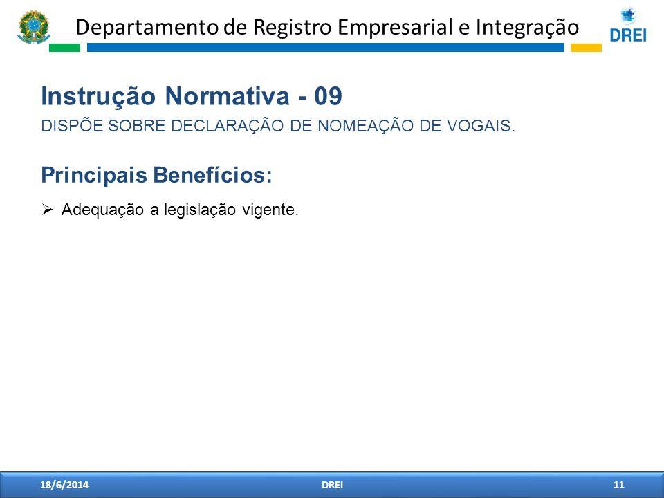 Instrução Normativa - 09 Principais Benefícios: