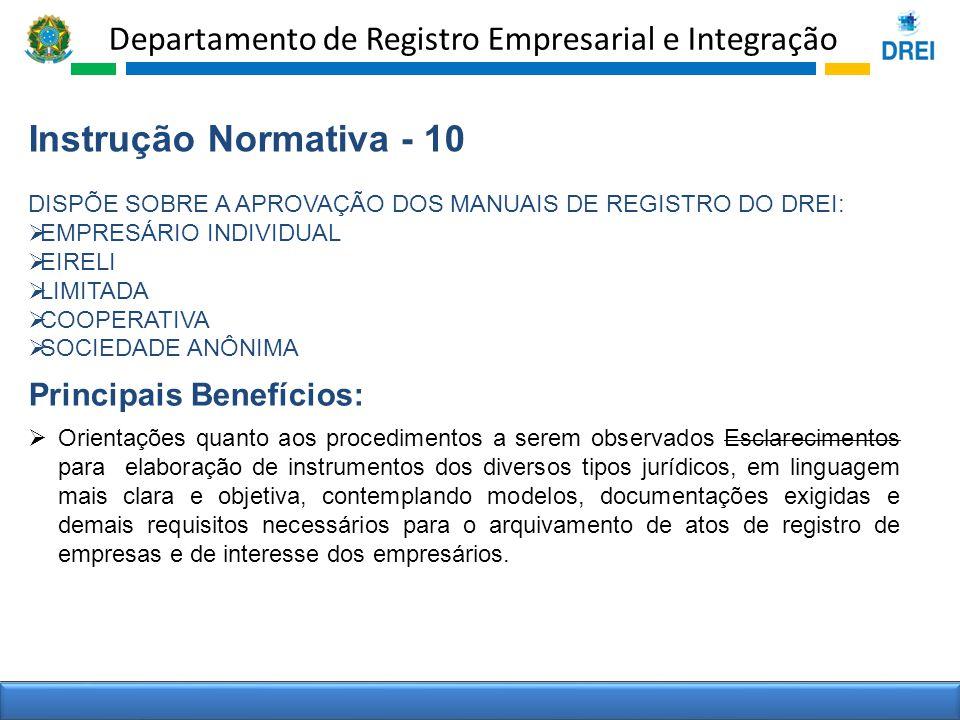 Instrução Normativa - 10 Principais Benefícios: