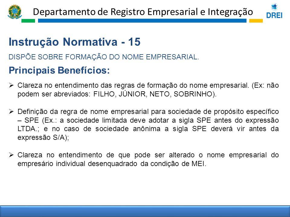 Instrução Normativa - 15 Principais Benefícios: