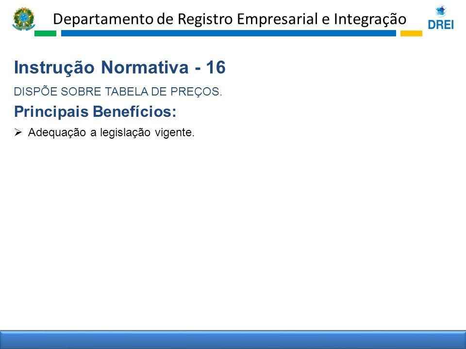 Instrução Normativa - 16 Principais Benefícios: