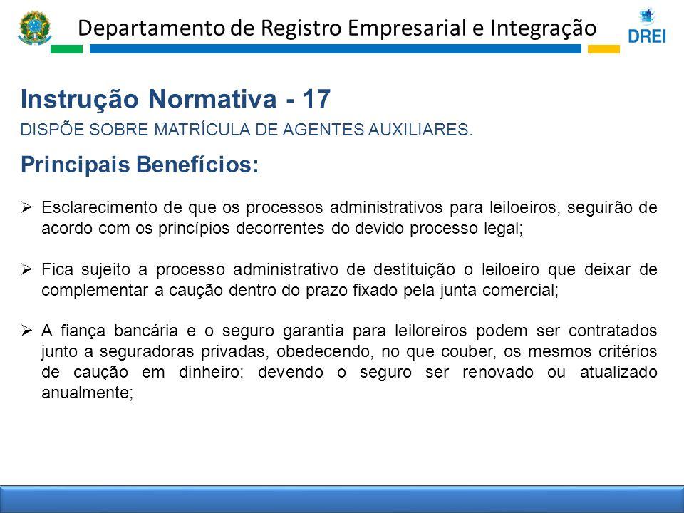 Instrução Normativa - 17 Principais Benefícios: