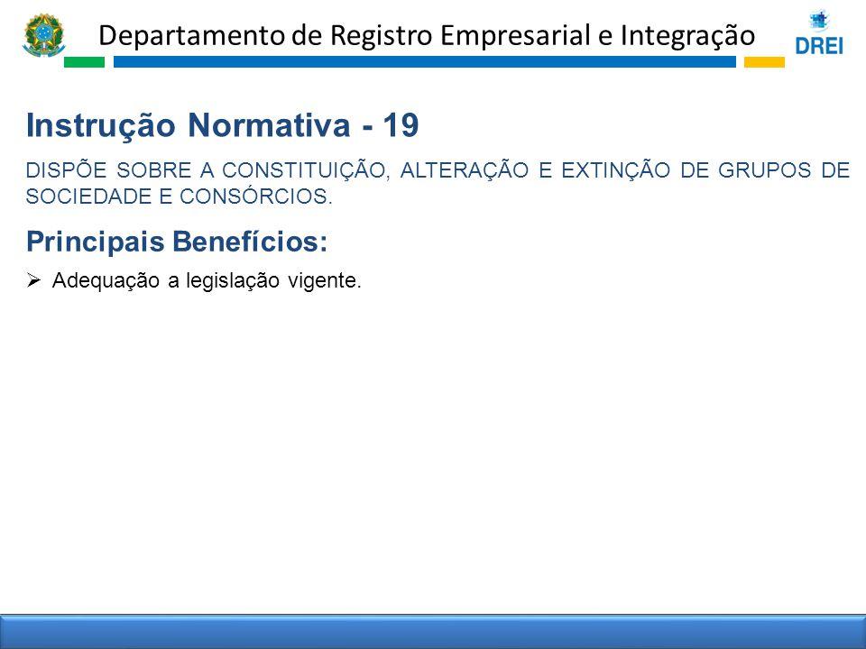 Instrução Normativa - 19 Principais Benefícios: