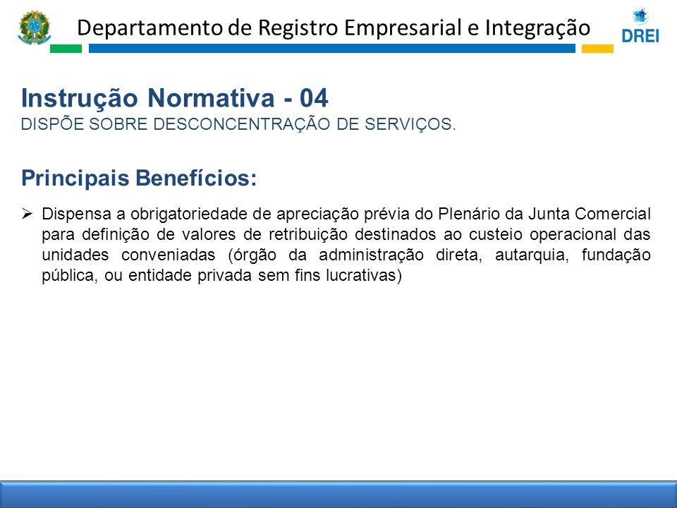 Instrução Normativa - 04 Principais Benefícios: