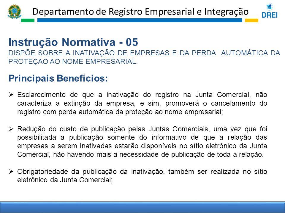 Instrução Normativa - 05 Principais Benefícios: