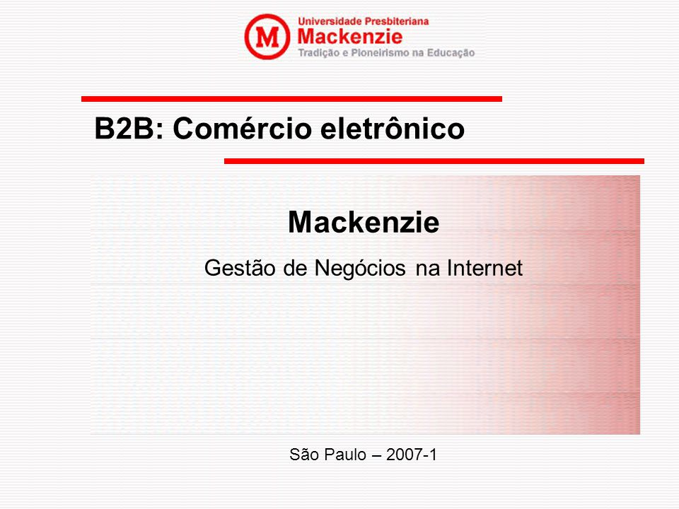 B2B: Comércio eletrônico