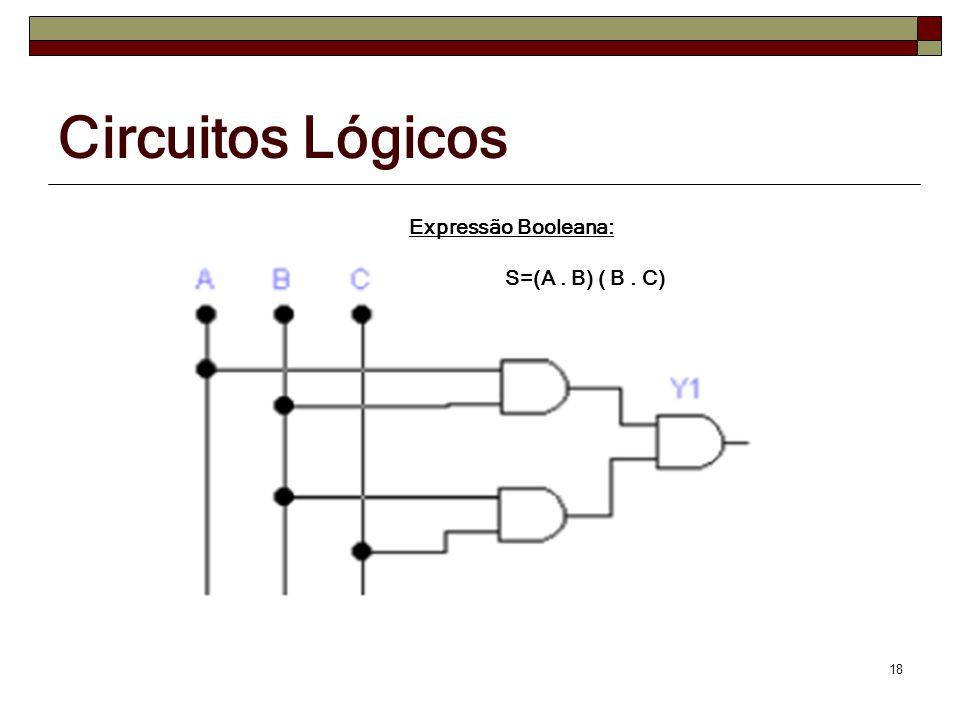 Circuitos Lógicos Expressão Booleana: S=(A . B) ( B . C)