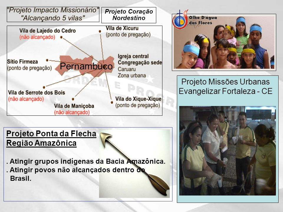Pernambuco Projeto Missões Urbanas Evangelizar Fortaleza - CE