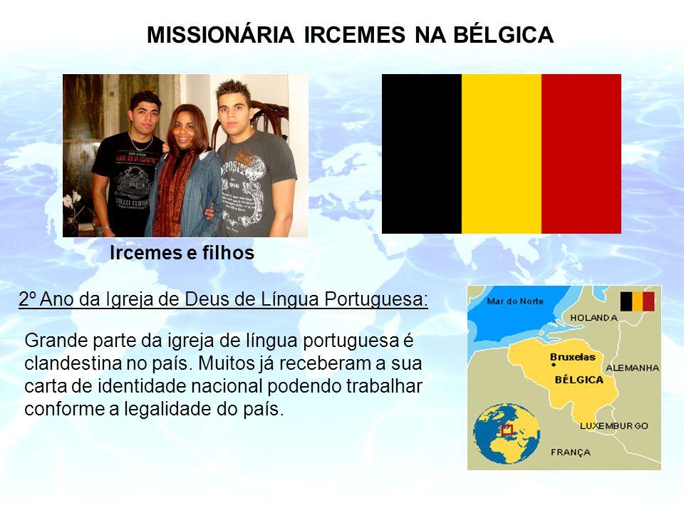 MISSIONÁRIA IRCEMES NA BÉLGICA