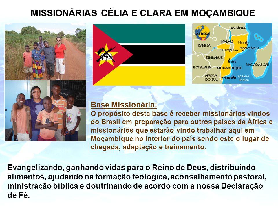 MISSIONÁRIAS CÉLIA E CLARA EM MOÇAMBIQUE