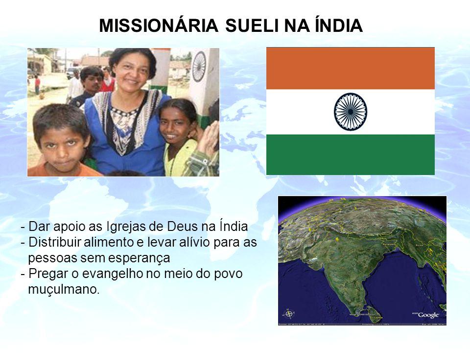 MISSIONÁRIA SUELI NA ÍNDIA