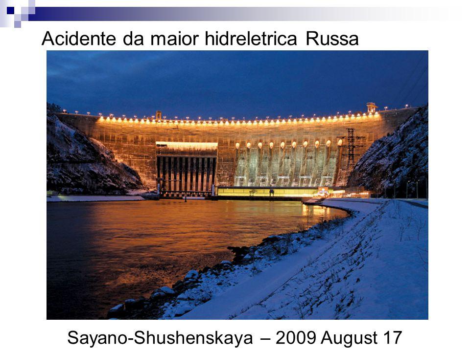Acidente da maior hidreletrica Russa