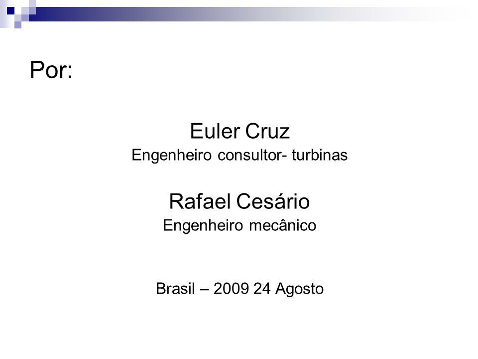 Engenheiro consultor- turbinas