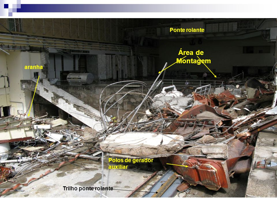 Área de Montagem Ponte rolante aranha Polos de gerador auxiliar