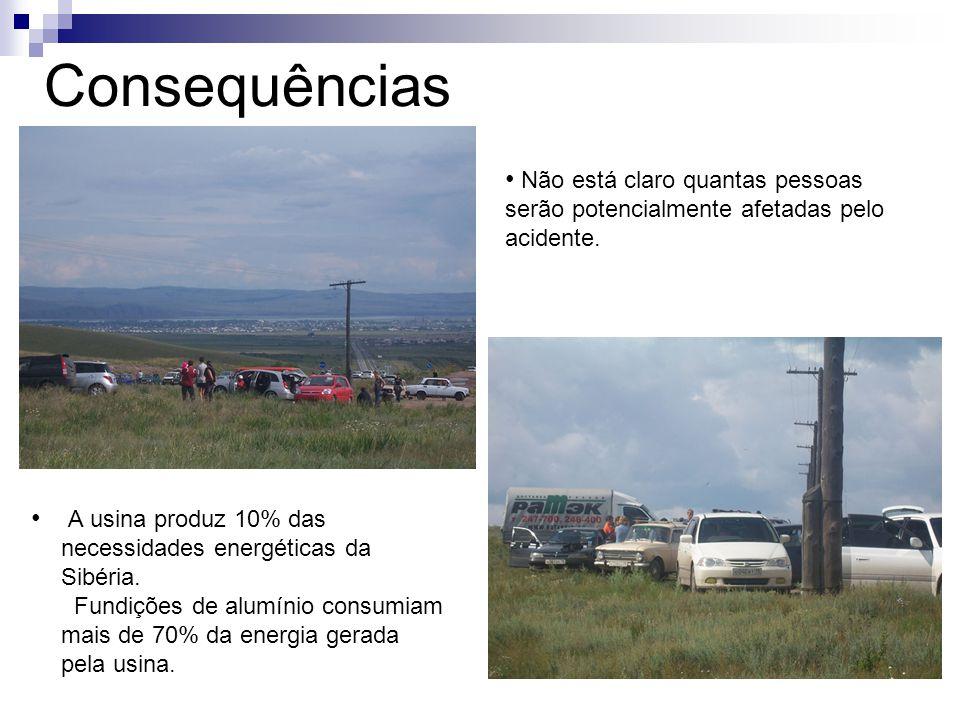 Consequências Não está claro quantas pessoas serão potencialmente afetadas pelo acidente.