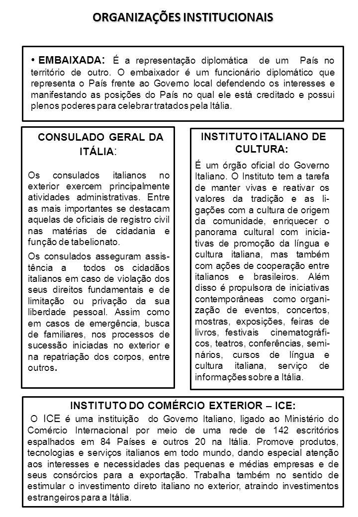 ORGANIZAÇÕES INSTITUCIONAIS