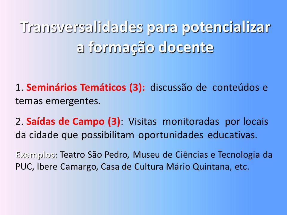 Transversalidades para potencializar a formação docente