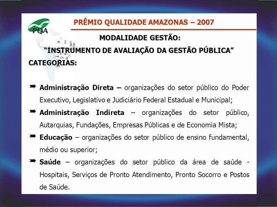 INSTRUMENTO DE AVALIAÇÃO DA GESTÃO PÚBLICA