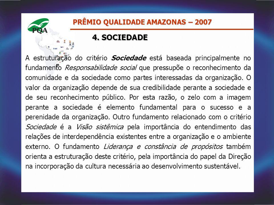 4. SOCIEDADE PRÊMIO QUALIDADE AMAZONAS – 2007