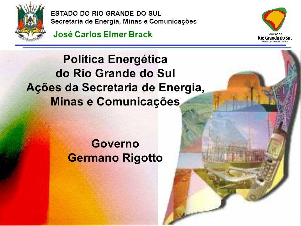 Ações da Secretaria de Energia, Minas e Comunicações