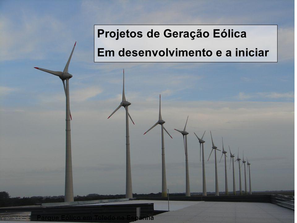 Parque Eólico em Toledo na Espanha