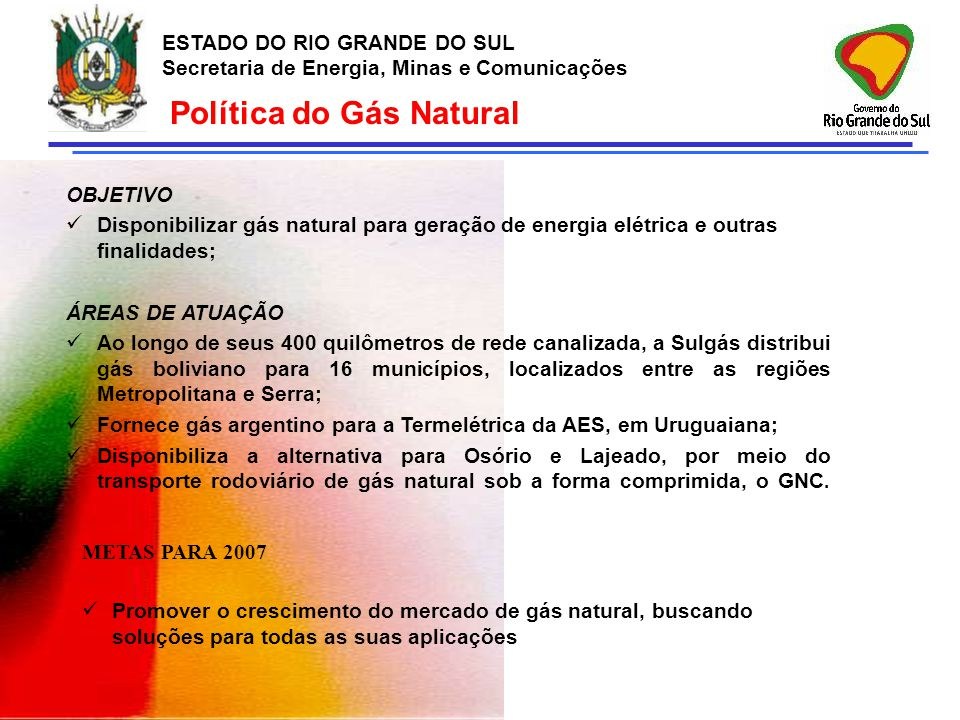 Política do Gás Natural
