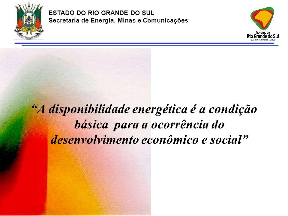 A disponibilidade energética é a condição básica para a ocorrência do desenvolvimento econômico e social