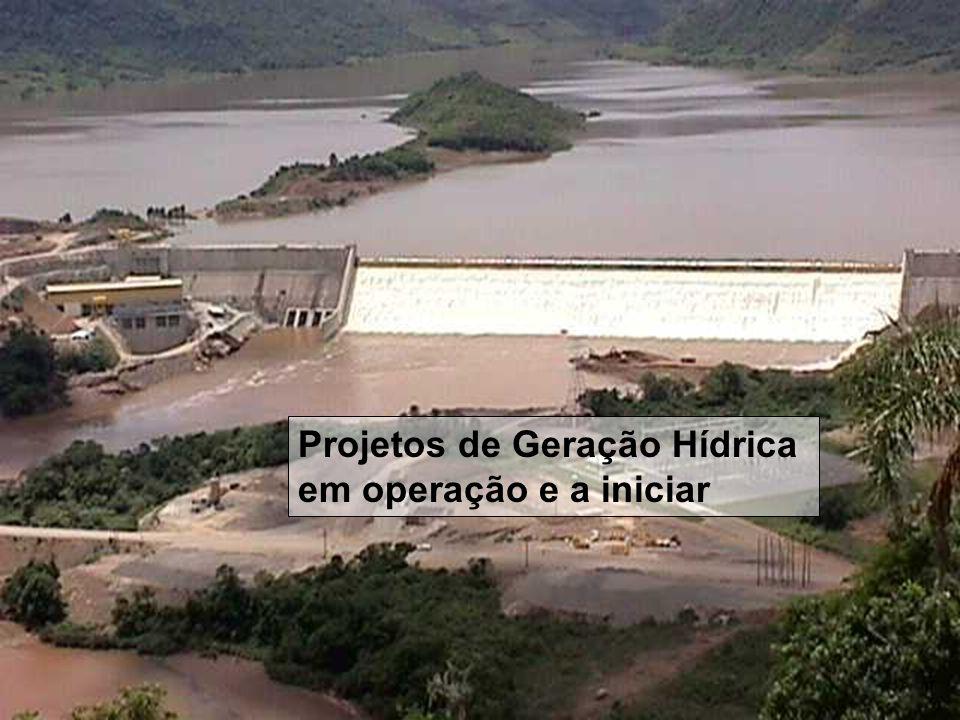 Projetos de Geração Hídrica