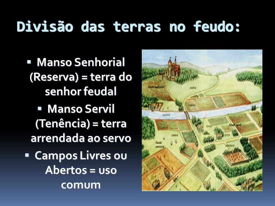 Divisão das terras no feudo: