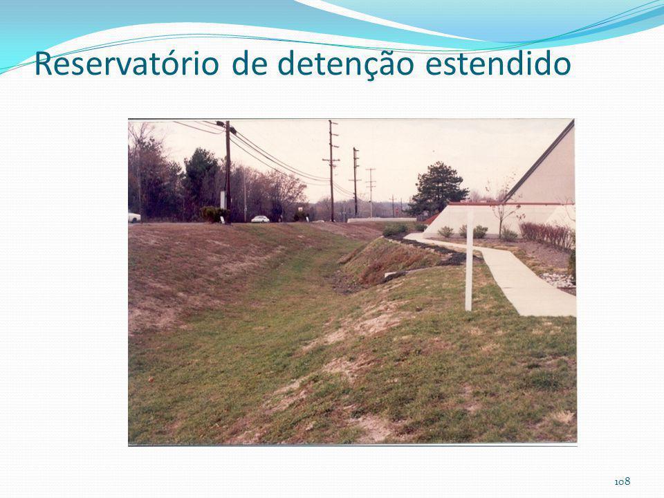 Reservatório de detenção estendido (enchente+melhoria da qualidade das aguas pluviais)