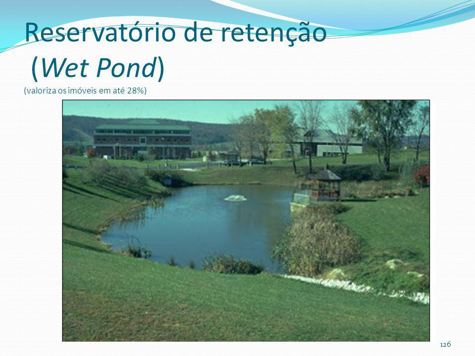 Reservatório de retenção Fazer balanço hídrico para ver se o reservatório não ficará seco durante alguns meses por ano.