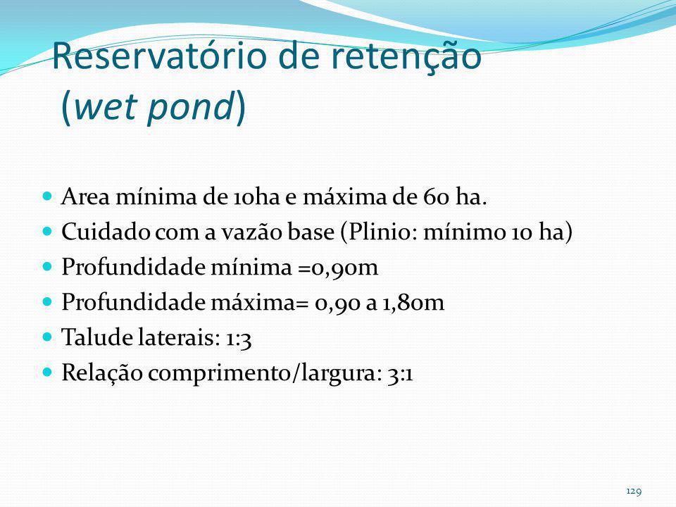 Reservatório de retenção (wet pond)