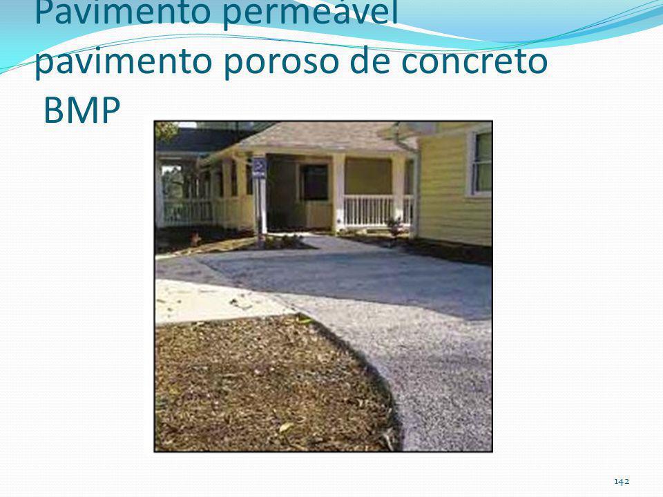 Pavimento permeável A) pavimento modular